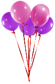 Pink & Purple Balloons